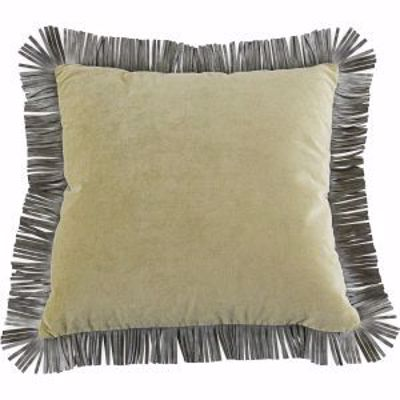 Picture of KE2020FL 3-INCH LEATHER FRINGE 20X20 SQUARE THROW PILLOW