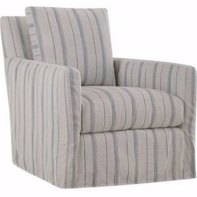 Picture of US112-01SW NANDINA OUTDOOR SLIPCOVERED SWIVEL CHAIR