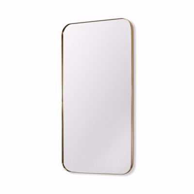 """Picture of AALINA MIRROR 80"""" - BRUSHED BRASS"""