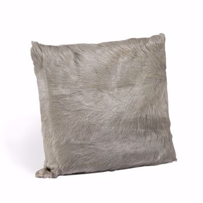 Picture of GOAT SKIN SQUARE PILLOW - GREY