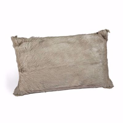 Picture of GOAT SKIN BOLSTER PILLOW - GREY
